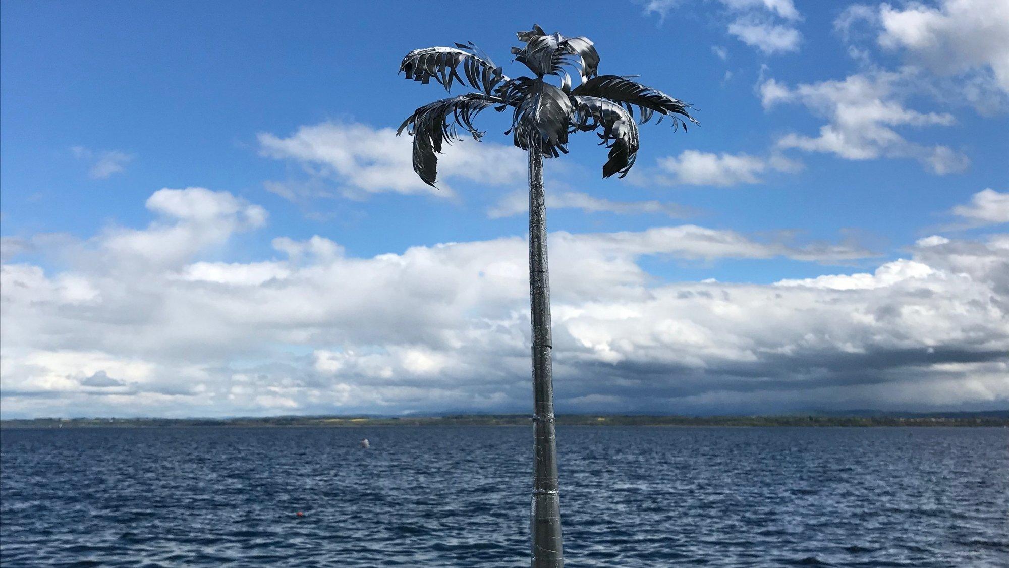Le nouveau projet de palmier pour Gorgier tel qu'imaginé par l'artiste Christian Gonzenbach.
