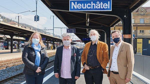 Le Semaine de l'Europe, représentée ici par quelques-uns des organisateurs, fera la part belle à la thématique du train.