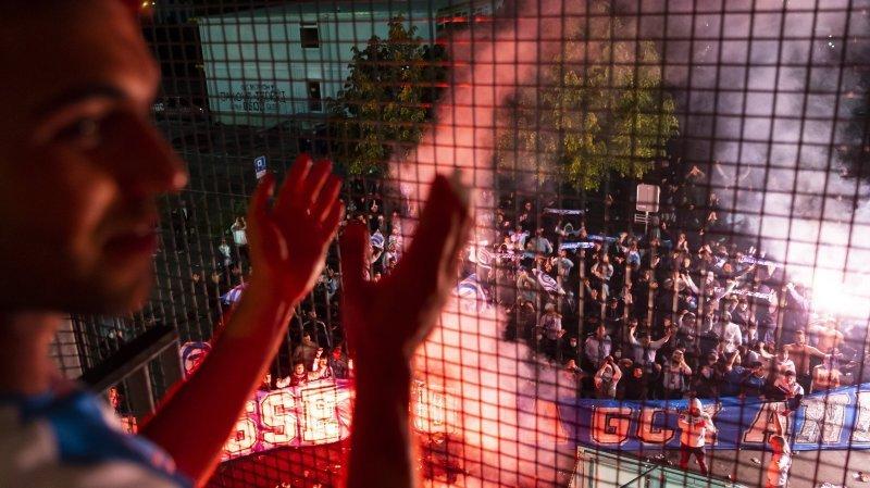 Les fans de Grasshopper présents en force à Neuchâtel