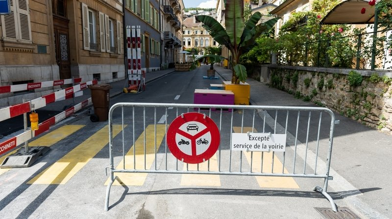 Neuchâtel: la rue de l'Orangerie presque piétonne cet été