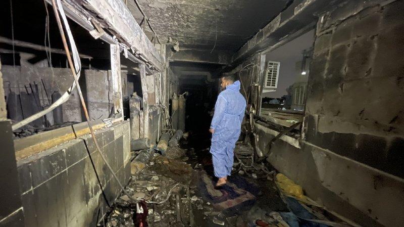 Incendie dans un hôpital àBagdad: le bilan grimpe à au moins 82 morts et 110 blessés
