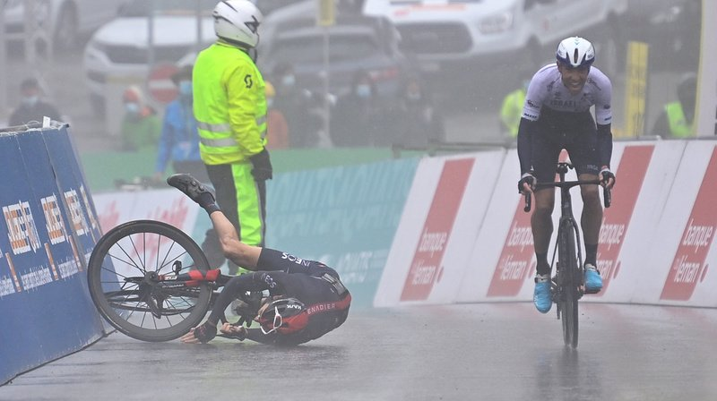 Cyclisme – Tour de Romandie: le Canadien Woods gagne une 4e étape marquée par la météo