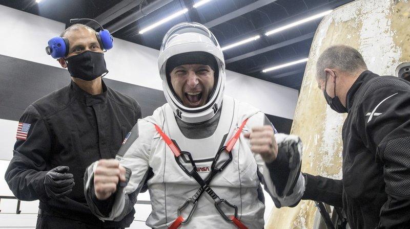 Les astronautes sont revenus à bord du même vaisseau qui les avait menés en orbite.
