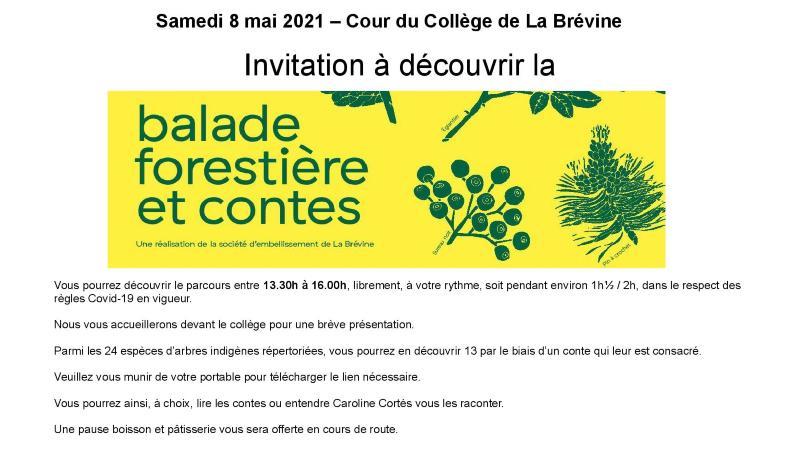 Inauguration de la Balade forestière et contes