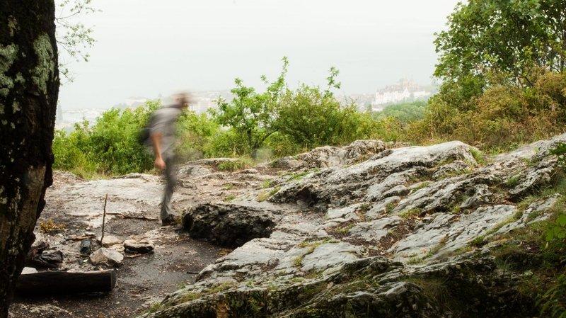 Neuchâtel: un feu de forêt près des rochers de l'Hermitage
