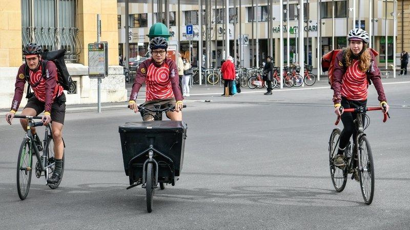 La Chaux-de-Fonds soutient les livreurs à vélo