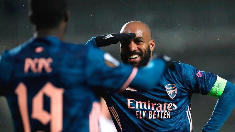 Alexandre Lacazette et Arsenal en demi-finales de l'Europa League