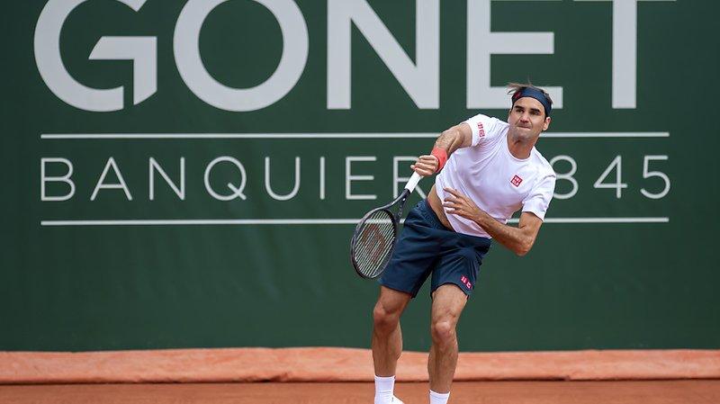 Federer s'est entraîné vendredi déjà à Genève.