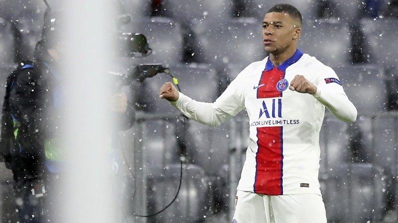Kylian Mbappé: deux buts sous la neige bavaroise.