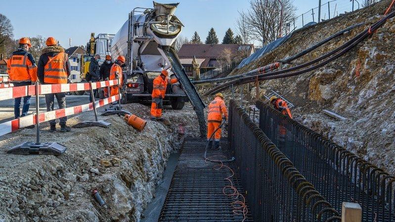 La Chaux-de-Fonds: le béton coule pour le nouveau pont de Malakoff