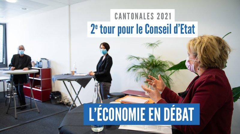 Cantonales 2021: le défi économique vu par Crystel Graf, Florence Nater et Roby Tschopp