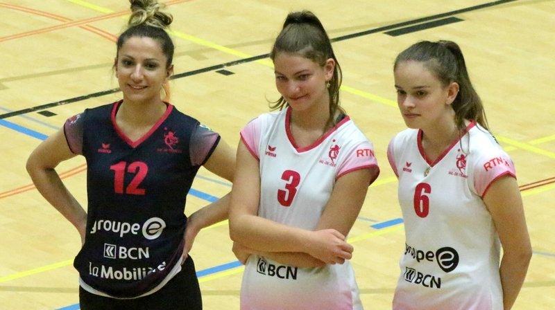 Lejla Kurtaliqi, Elodie Mehmetaj et Anastasia Fretzios (de g. à d.) fouleront encore le parquet de l'espaceVAL la saison prochaine.