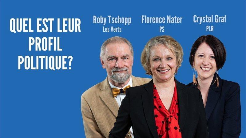 Graf, Nater, Tschopp: quel est leur profil politique?