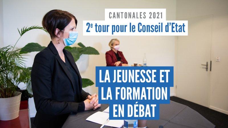Cantonales 2021: la jeunesse et la formation vues par Crystel Graf, Florence Nater et Roby Tschopp