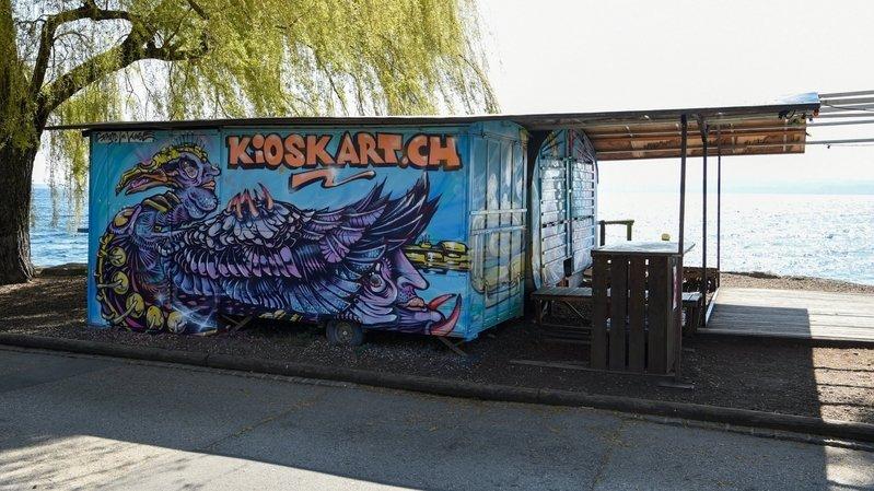 De nouvelles fresques ornent le Kiosk-Art, aux Jeunes-Rives de Neuchâtel.