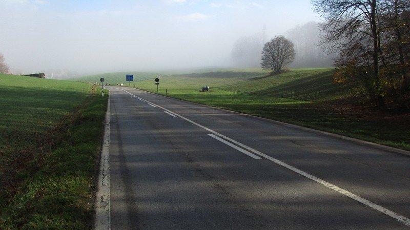 La H10 sera en travaux entre le village de Rochefort et la bifurcation pour Champ-du-Moulin.