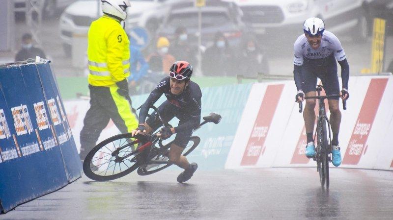 Cyclisme: Geraint Thomas, l'improbable chute à Thyon 2000