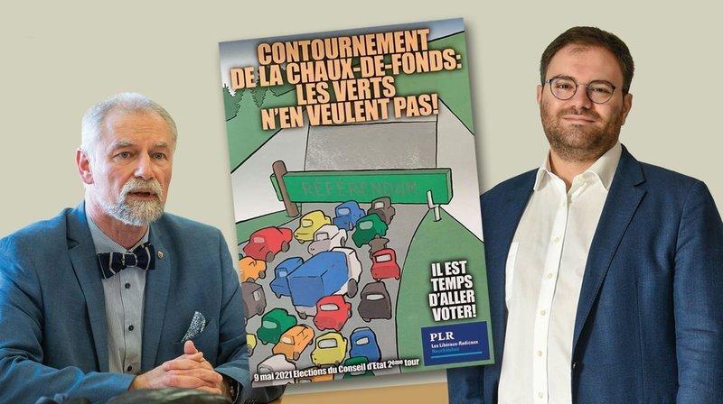 Cantonales 2021: le flyer du PLR sur le tunnel met de l'huile sur le feu