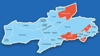 Cantonales 2021: la carte de la vague bleue au Conseil d'Etat, commune par commune