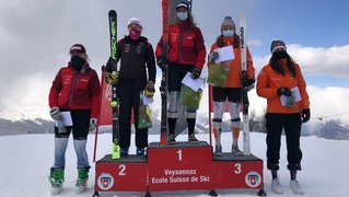 Justine Herzog signe deux podiums en slalom géant en Valais