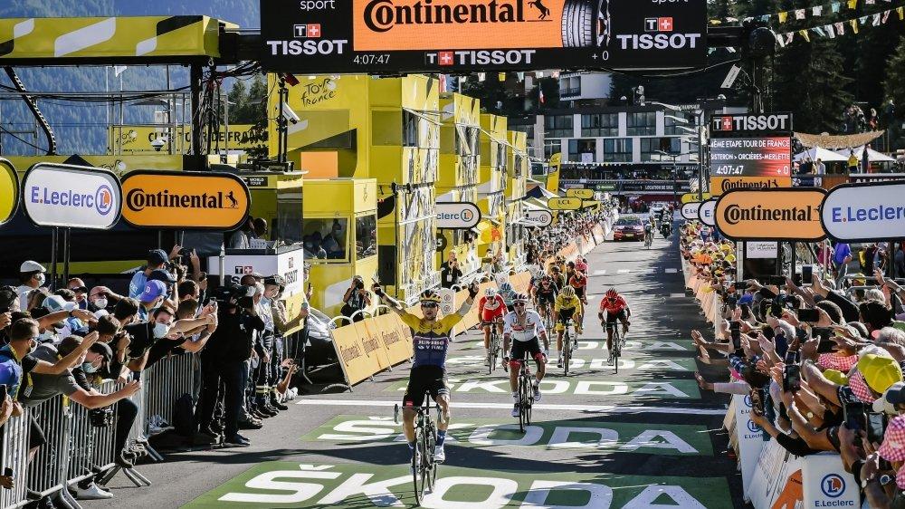 Tour de France 2020: arrivée de la quatrième étape, Sisteron/Orcières-Merlette