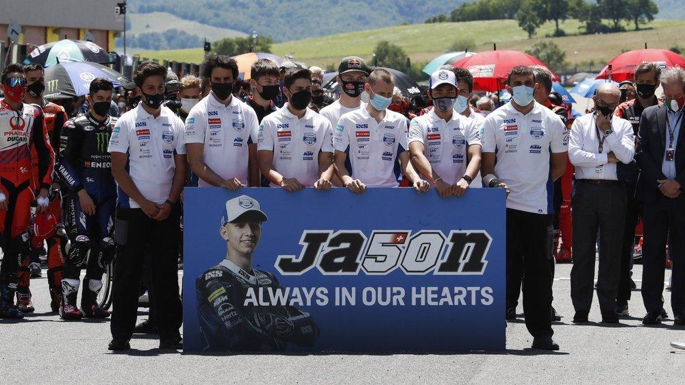 Ses coéquipiers rendent hommage à Jason Dupasquier.