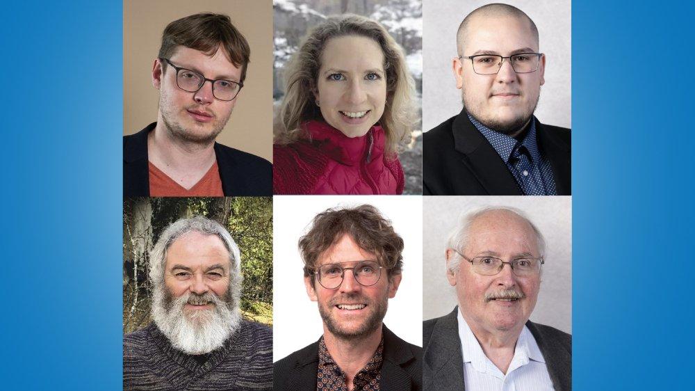 Les suppléants Julien Gressot, Océane Taillard, Evan Finger, Hermann Frick, Laurent Duding ou encore Walter Willener (de gauche à droite, de haut en bas), sont parfois des députés battus ou des présidents de parti.