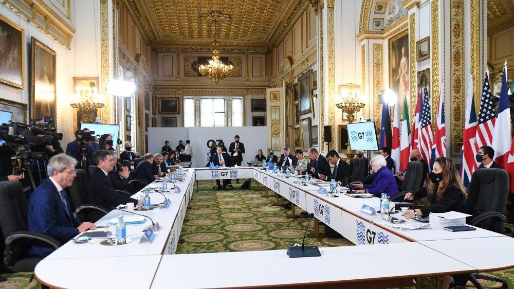 Les ministres des finances du G7 se sont réunis à Lancaster House, Londres, le 4 juin 2021.