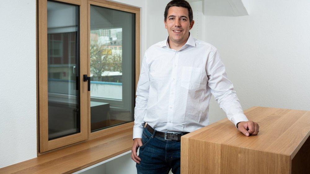 Rénald Langel, propriétaire de la menuiserie Walzer. L'entrepreneur n'a pas hésité à investir 3,3 millions de francs dans un nouveau bâtiment à La Chaux-de-Fonds.