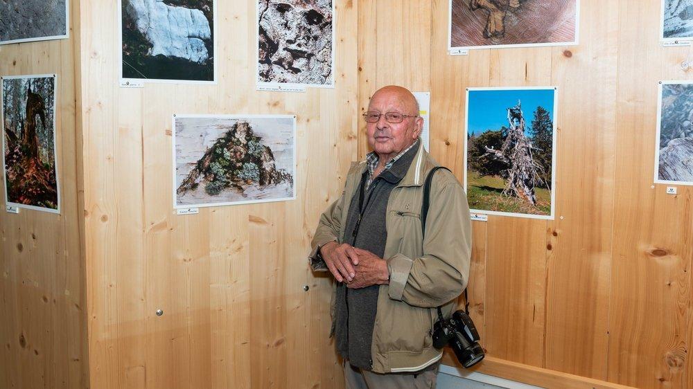 Marc Burgat, photographe naturaliste, sous un portrait dessiné par la nature. Saurez-vous le voir?