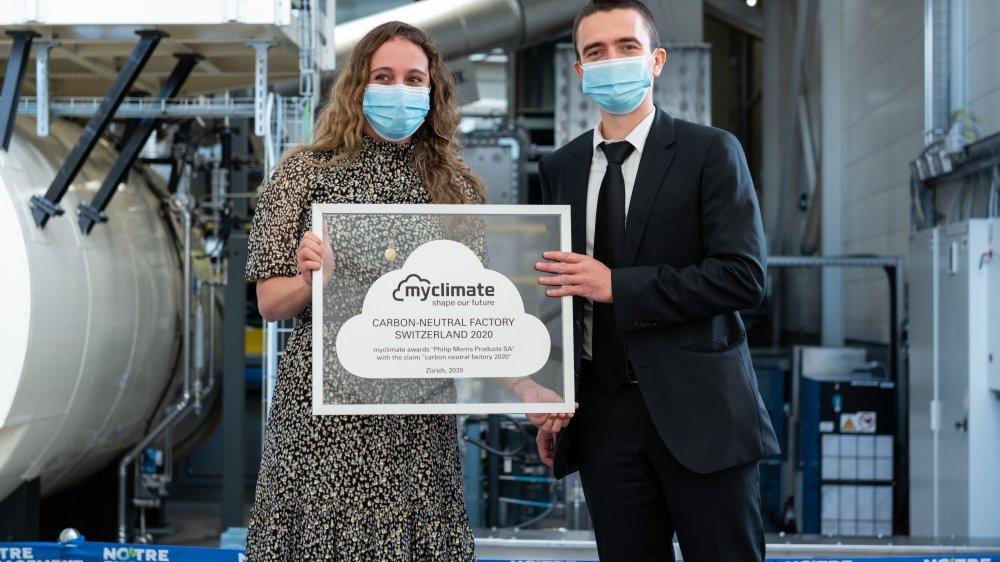 Le site neuchâtelois de Philip Morris international est la deuxième unité du groupe dans le monde à se voir décerner l'attestation de neutralité carbone.