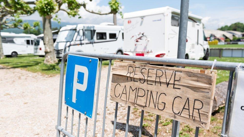 Au camping de La Tène, on est heureux de bénéficier de places supplémentaires pour les camping-caristes.