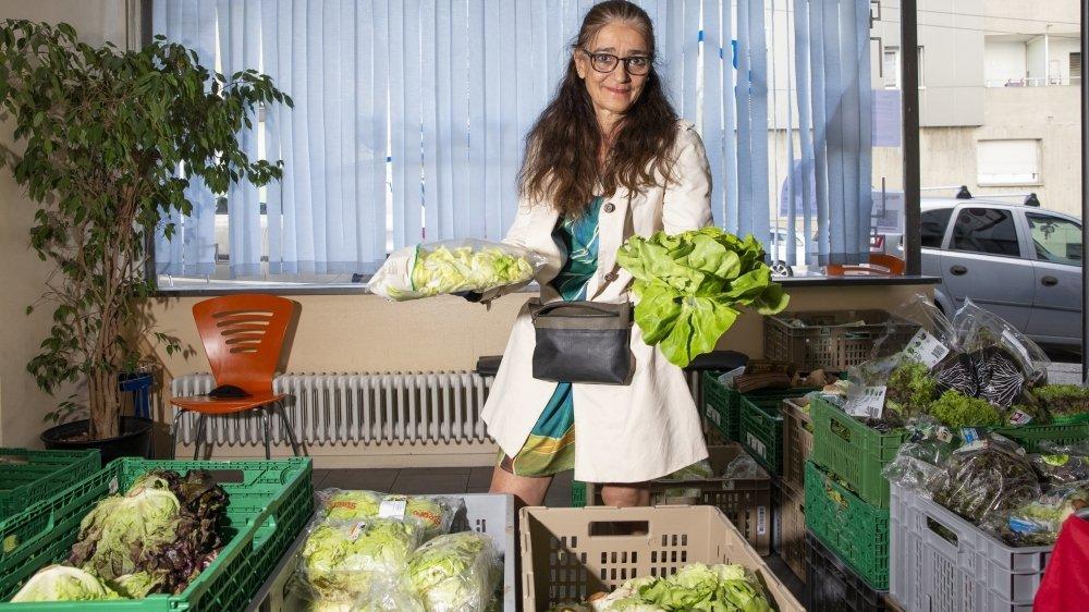 Natacha Hayoz est coprésidente du collectif Partage, à La Chaux-de-Fonds.