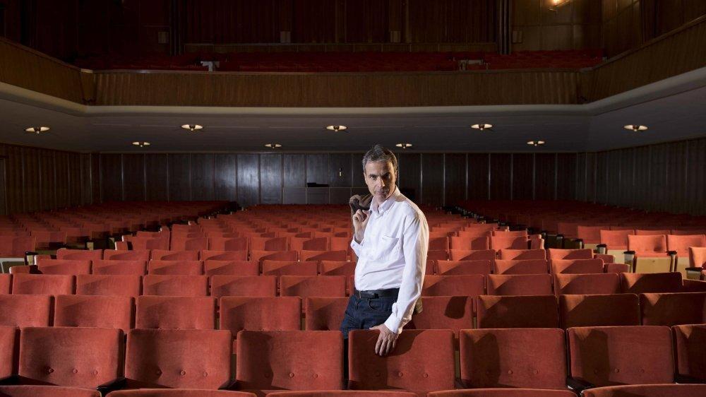 Frédéric Eggimann s'active pour mettre en place le protocole sanitaire qui permettra d'accueillir jusqu'à 600 spectateurs, le 15 juin, à la Salle de musique de La Chaux-de-Fonds.