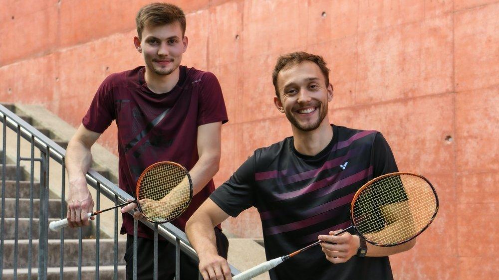 Maxime (à gauche) et Loris Pierrehumbert se sont préparés pour être en forme au jour J.