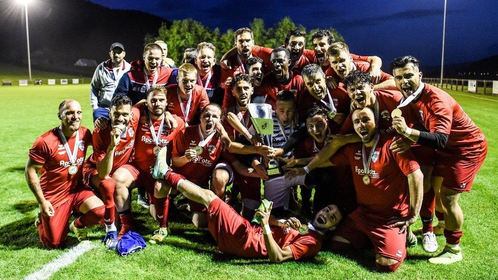 Les Bevaisans ont fêté leur titre de champions de troisième ligue à La Sagne.