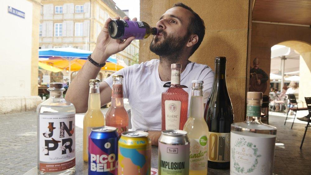 Même en enlevant la capsule, Luca Santos ne mettrait pas d'alcool dans son sang... Cette bière en est dépourvue!