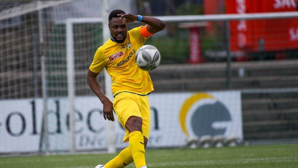 Diego Mutombo a inscrit le dernier but en championnat pour le FCC cette saison.