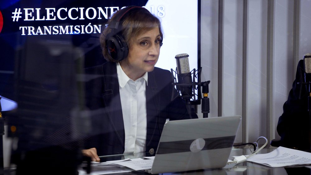 La journaliste mexicaine Carmen Aristegui est l'une des principales voix d'opposition de son pays.