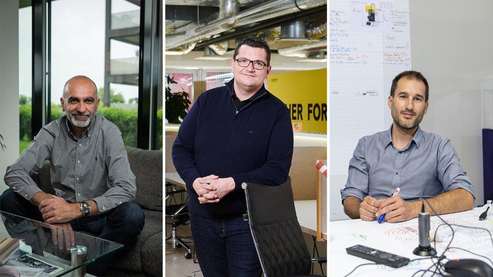Max Boysset, Ismaël Gensollen et Marc Thurner sont trois serial entrepreneurs neuchâtelois.