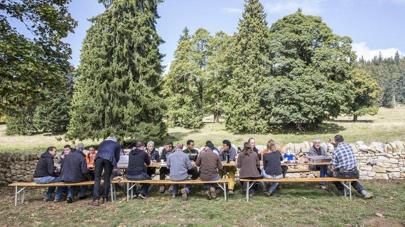 Après l'effort, le réconfort! Les participants seront récompensés par un bon déjeuner.
