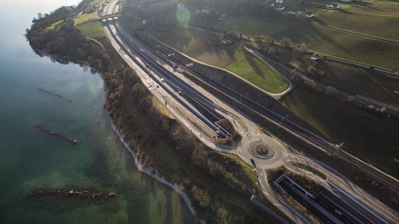 Vaumarcus: l'autoroute A5 fermée durant quatre nuits la semaine prochaine