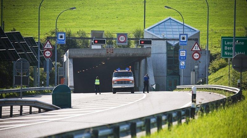 Le trafic a été interrompu au tunnel du Mont Sagne, à La Chaux de Fonds, ici en 2009.