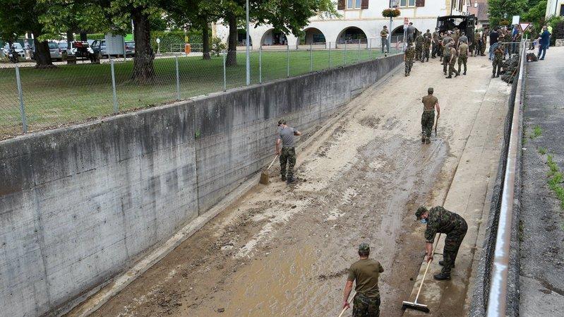 L'armée à Cressier: pourquoi n'est-elle pas intervenue après les intempéries à Val-de-Ruz?