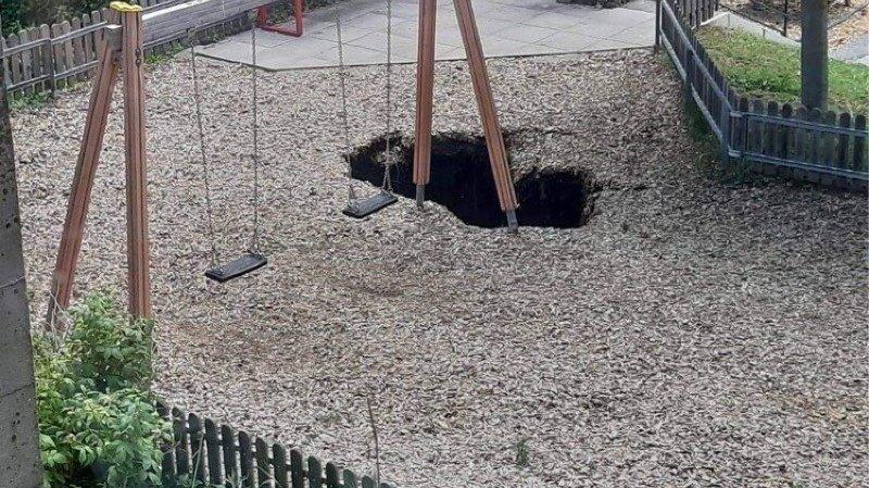Neuchâtel: le sol s'affaisse sur la place de jeux du collège des Charmettes