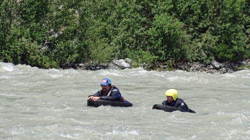 En Valais, l'hydrospeed ou l'art de dompter la rivière