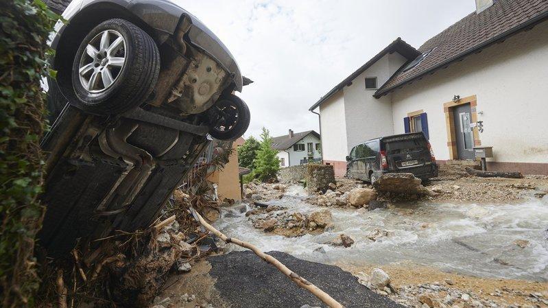 Inondations à Cressier: nouveaux orages prévus sur l'Arc jurassien