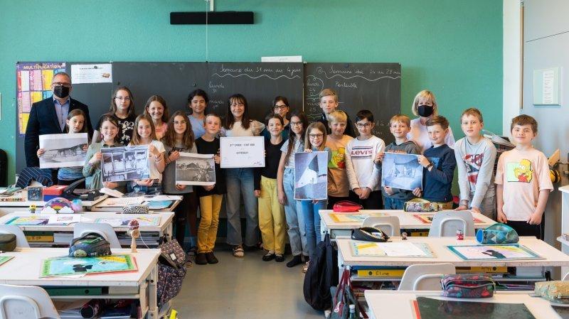 La classe de Nicole Rod, du collège d'Auvernier, a terminé deuxième du concours Lermite.