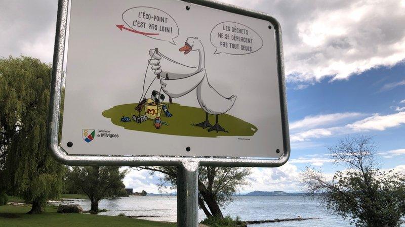 Lutte contre le littering: Milvignes dispose des écopoints sur les rives en lieu et place des poubelles