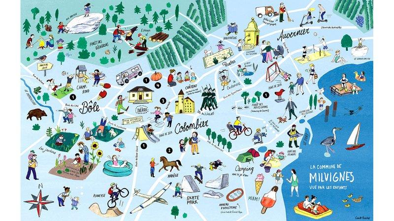 Une carte montre comment les enfants voient Milvignes